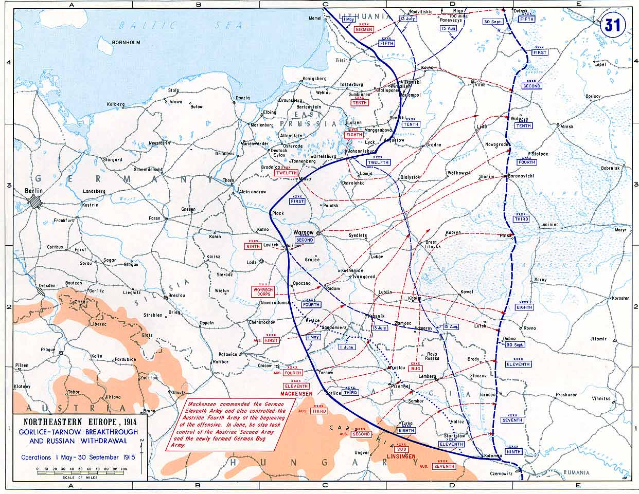 Eastern Front 1915 From May to October 1915 the Great Retreat Public Domain
