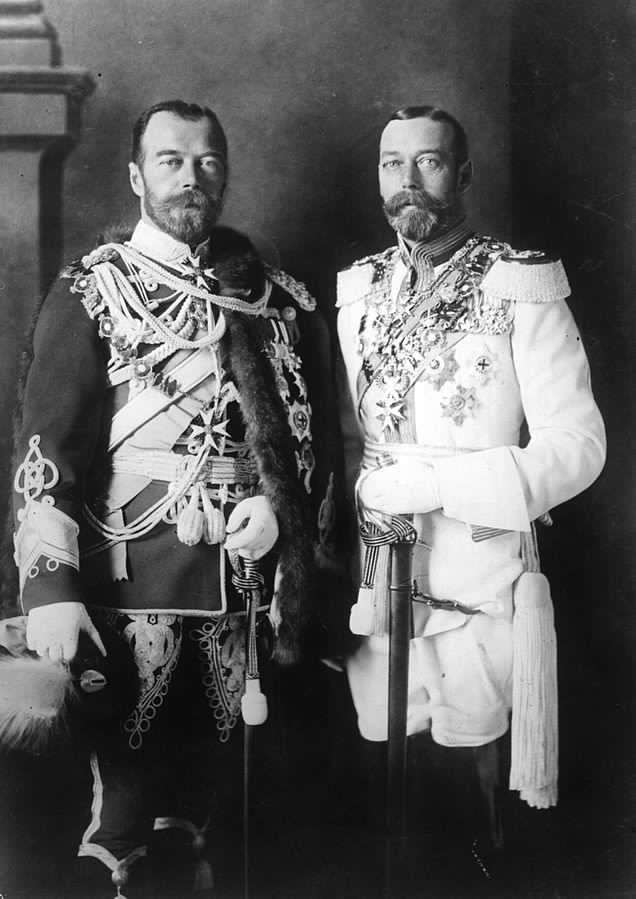 Tsar Nicholas II King George V Public Domain in USA