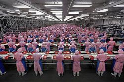 low wage factory workers